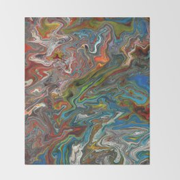 Abstract Oil Painting 13 Throw Blanket
