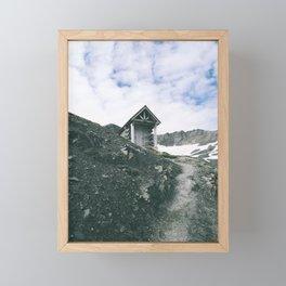 Mountain Hut Framed Mini Art Print
