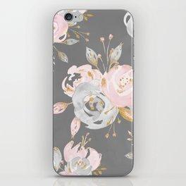Night Rose Garden Gray iPhone Skin