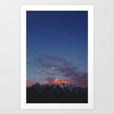 Teton Tips Art Print
