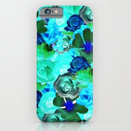 Roses in Blue - IA iPhone Case