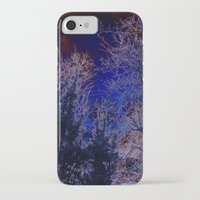 psychadelic iPhone & iPod Cases featuring Psychadelic trees frame the moon by Cheryl - DevilBear Photography