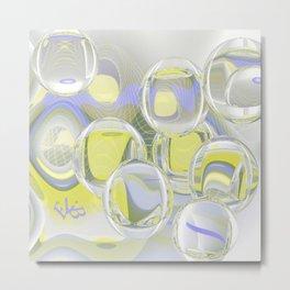 Flying Glas Metal Print