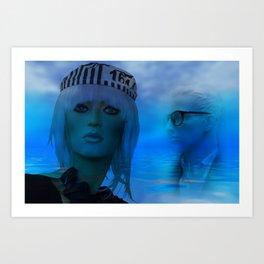 dreaming blue Kunstdrucke