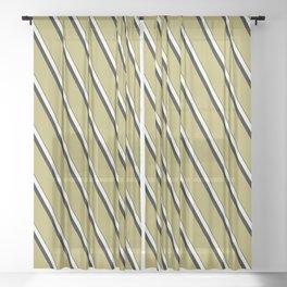 Wasabi Diagonal Stripe Sheer Curtain