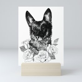 Portrait of a German Shepherd Mini Art Print