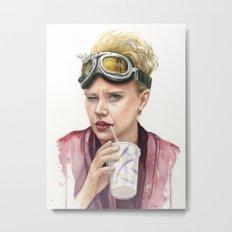 Jillian Holtzmann Portrait | Ghostbusters Art Painting Metal Print
