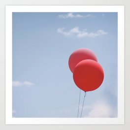 Red Balloons Art Print