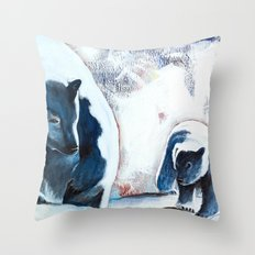 Bears - Don't be afraid, I'll show you the way... Throw Pillow