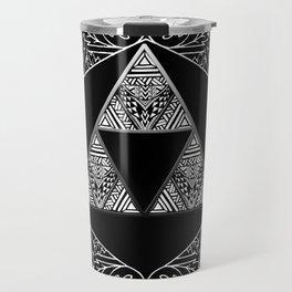 Triforce Aztec White Pattern Travel Mug