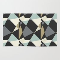 geo Area & Throw Rugs featuring Geo by SarahFlemingDesigns