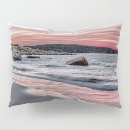 Pink Sunset on the beach Pillow Sham