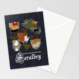 Horsing Around with Heraldry Stationery Cards