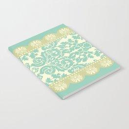 Ornamental Renaissance Border Design Acqua  Notebook