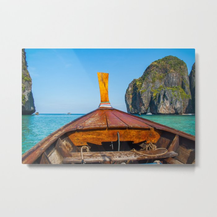South Pacific Boat Launch Metal Print
