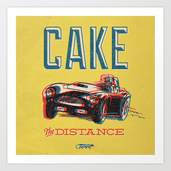 7 inch series: Cake- the distance Art Print