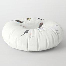 Dirty Birds Floor Pillow