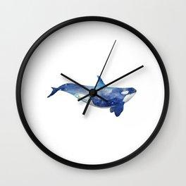 Printable Art, Whale Illustration, Black and White, Minimalist Illustration, Screen Print, Nature Wall Clock
