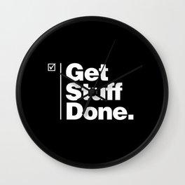 Get Stuff Done Wall Clock