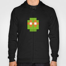 hero pixel green orange Hoody