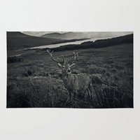 stag Area & Throw Rugs featuring Stag by Ferdinand Bardamu