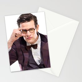 The Eleventh Doctor, Matt smith low poly portrait Stationery Cards