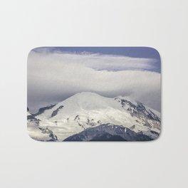 Mountain Top of Mt Rainier Bath Mat