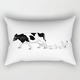 Cow vs. Chicken Rectangular Pillow