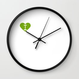I Heart Sessile oaks | Love Sessile oaks Wall Clock