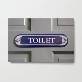 Toilet Metal Print