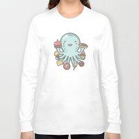 dessert Long Sleeve T-shirts featuring Room for Dessert? by littleclyde