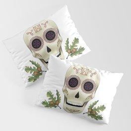 Knotwork Skull Pillow Sham