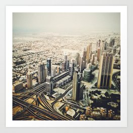 dubai downtown Art Print