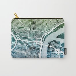 Philadelphia Pennsylvania City Street Map Carry-All Pouch