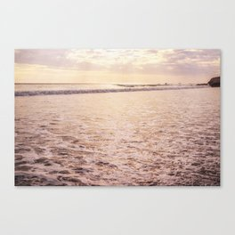 Quiet Moments on Cayucos Beach Canvas Print