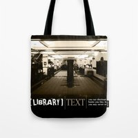 library Tote Bags featuring Library by Phil Perkins