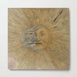 Sun and Moon Together Metal Print