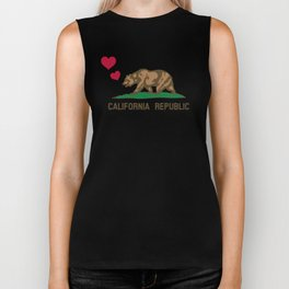 California Republic Bear with Hearts Biker Tank