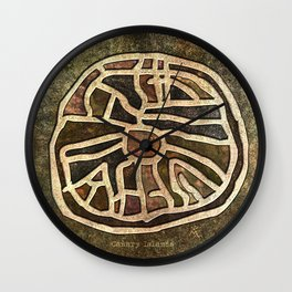 Ancestry / Map Wall Clock