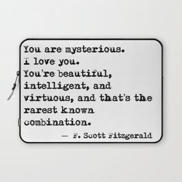 Beautiful, intelligent and virtuous - F Scott Fitzgerald quote Laptop Sleeve