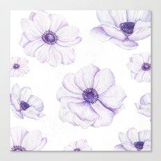 Anemones 2 White #society6 #buyart Canvas Print