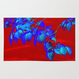 Red Sky And Blue Leaves Rug