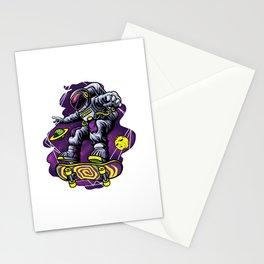 Skater Astronaut Skateboard Skateboarding Gift Stationery Cards