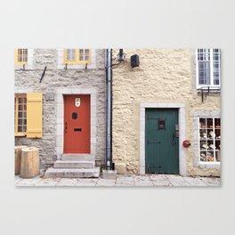 Doors of Petit-Champlain, Quebec City Canvas Print