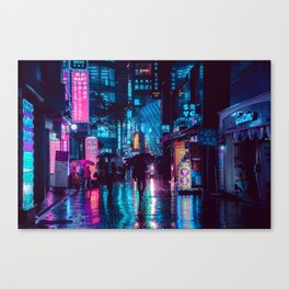 Myeongdong at night Canvas Print