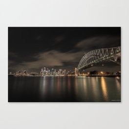 Sydney Harbor Bridge by night Canvas Print