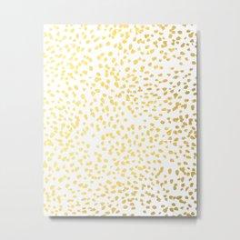 Gold Fleck modern art minimal trendy foil gold iphone cell phone case hipster brooklyn urban glitter Metal Print