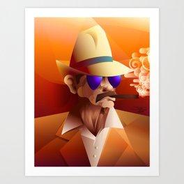 Cigar Aficionado Art Print
