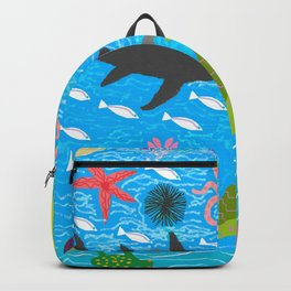 The summer of Myrto-the mermaid Backpack