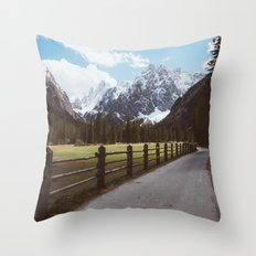 Let's hike together Throw Pillow